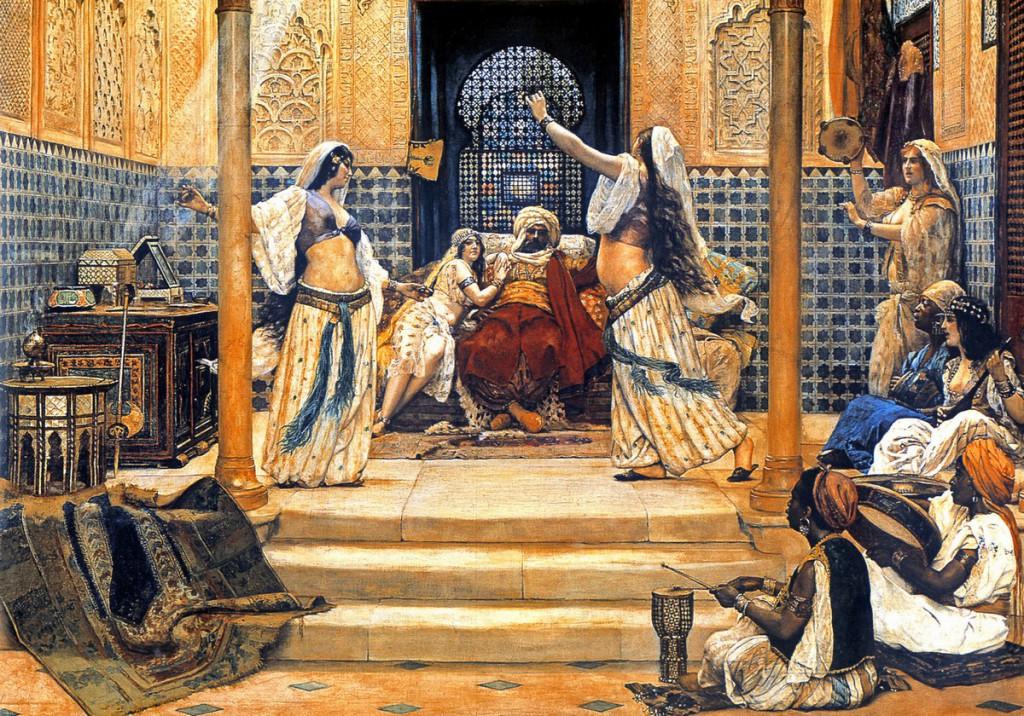 Haremo merginos šokdavo tik sultonui, kitus vyrus linksmindavo kiočekai